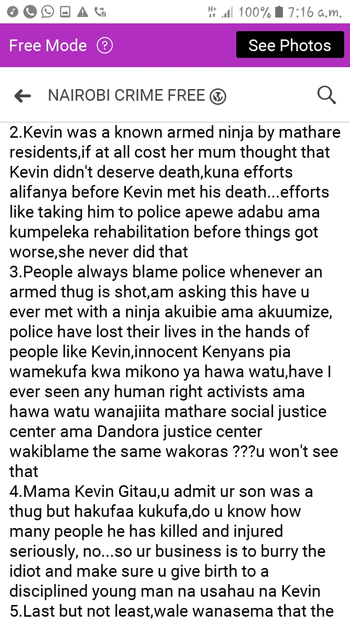 Nairobi Crime Free 2